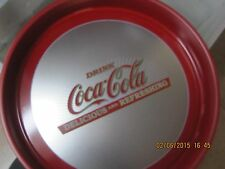 "Coca-Cola Round Tray ""Drink Coca Cola Delicious and Refreshing"" NEW"
