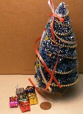 1:12 Scale Decorated Christmas Tree & Presents Dolls House Miniature Accessory