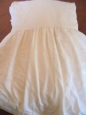 The Purists Made in Germany Queen Size Bedskirt Ivory 17 inch Drop