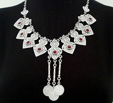 Turkish Ottoman Style Silver Plated Necklace S0023K