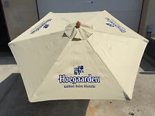 Hoegaarden Beer Beige Umbrella Patio Beach Pool  7 FT. - New & F/S 3 Logos