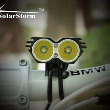 US Stock 5000LM Solar Storm CREE XM-L T6 LED Bicycle Light + Battery + Charger