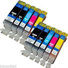 10 x Canon Cartucce Inkjet CLI-8 & PGI-5 Bk Compatible For Printer MP970