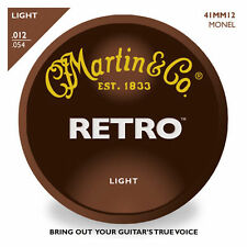 Martin MM11 Retro Monel Vintage Tone 11 - 52 Light Acoustic Guitar Strings