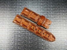 26mm Gold Brown ALLIGATOR HORNBACK Strap Leather Tang Watch Band PANERAI 26 X1