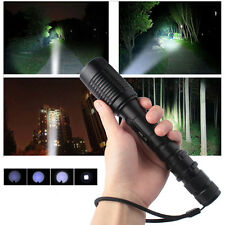 Zoom 5000LM 5*Modes CREE XML T6 LED Power Black Flashlight Torch Lamp by 18650