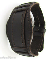 Vintage 20mm DARK BROWN USSR WATCH BAND VUNTAGE MILITARY Soviet Russian Leather