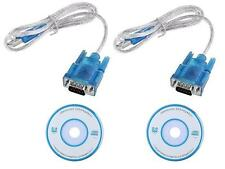 Lot 2 USB to RS232 serial DB9 Adapter for XP Vista Win7 Female Screw 3FT