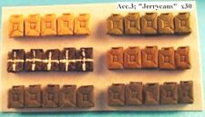 """Milicast ACC03 1/76 Resin WWII German Fuel Cans (""""Jerrycans"""") (x30)"""