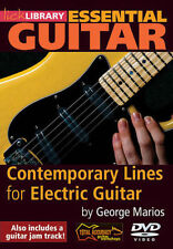 George Marios Contemporary Lines For Electric Guitar Lick Library DVD NEW!