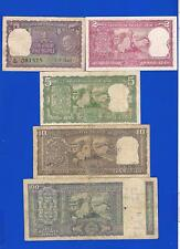 Gandhi Ji -Set of Notes- 1,2,5,10,100 { 5 issues} XF Condition- V.V. Rare