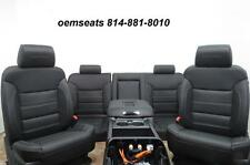15-17 CHEVY SILVERADO SEAT SIERRA BLACK LEATHER FRONT REAR SEAT CENTER CONSOLE