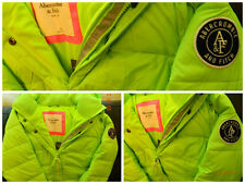 Abercrombie & Fitch Women's Dawn Puffer Jacket NEON GREEN (Size: M)
