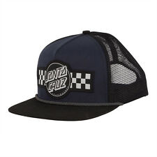 Santa Cruz Contest Hat Snapback Black Navy Checkered Mesh Hat OG Skateboard NEW