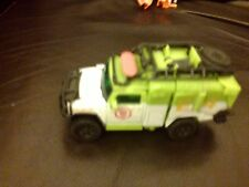 BATTLE DAMAGED 2010 TRANSFORMERS GREEN SEARCH RESCUE FIRE DEPT TRUCK  4.5 INCH