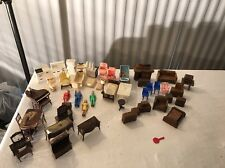 VINTAGE DOLL HOUSE FURNITURE LARGE LOT