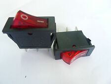 5p Red Light Heavy Duty 120V ON-OFF ROCKER SWITCH,R13Cs
