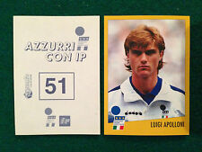 AZZURRI CON IP 1998 98 n 51 LUIGI APOLLONI Figurina Sticker Merlin New