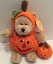 "Starbucks Bearista Bear Pumpkin Plush 12"" Stuffed Animal 77th Edition 2008"