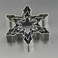 MJ134 Snowflake Shape 3pcs/Lot Cookie Cutter Stainless Steel Snow Form Cookie