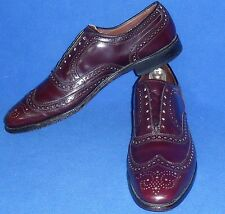 11 AAA ALLEN EDMONDS McALLISTER BURGUNDY CORDOVAN WINGTIP *NARROW*SHOE MENS SHOE