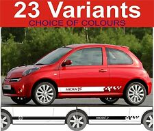 nissan micra side stripes decals stickers choice of design