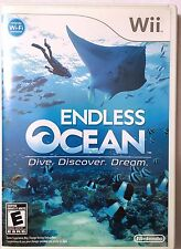 WII ENDLESS OCEAN COMPLETE-TESTED-FAST SHIP