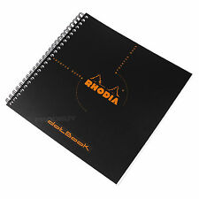 Rhodia Reverse Dot Book A5+ Black Spiral Architects Graphic Art Grid Note Pad