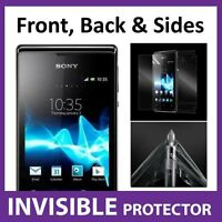 Sony Xperia E Full Body INVISIBLE Screen Protector Shield Front, Back & Sides