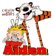 CUSTOM PERSONALIZED CALVIN AND HOBBES T SHIRT BIRTHDAY GIFT TEE ADD ANY NAME #2