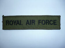 ROYAL AIR FORCE SUBDUED NAME TAPE BLACK ON OLIVE GREEN