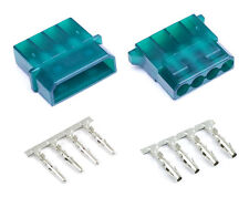 Green Male & Female 4 Pin Molex Connector With Pins for PC Computer Power Supply