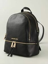 Genuine Michael Kors Medium Rhea Black Backpack