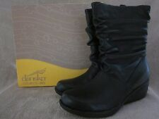 DANSKO 1644020200 Andrea Nappa Black Leather Boots Shoes US 8.5 - 9 M EUR 39 NWB