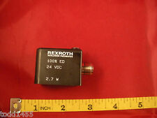 Rexroth W5147 4200 Solenoid Coil 100% ED 24v dc 2.7w Red LED Bosch 4 pin Nnb New