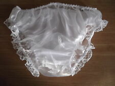 SISSY~MAIDS~ADULT BABY~TV/CD~UNISEX SATIN FRONT & ORGANZA BACK BIKINI PANTIES