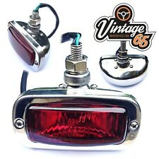 Classic Autin Mini GT Cooper Retro Stainless Steel Rear Fog Light Lamp 12V Bulb