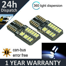 2X W5W T10 501 CANBUS ERROR FREE WHITE 24 SMD LED NUMBER PLATE BULBS NP103801