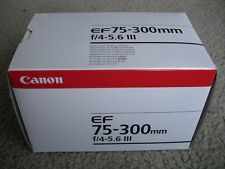 Brand New Canon EF 75-300mm F/4.0-5.6 III Telephoto Zoom Lens