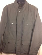 Mens Coach Grey Nylon Zip Down Hidden Hooded Field Jacket~83615~Med~NWT $498