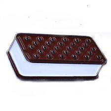 "ICE CREAM SANDWICH 1"" SOFT ENAMEL BLACK METAL PLATED LAPEL PIN BY YESTERDAYS CO."