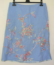 Pretty French Connection Natural Ramie Lined Skirt Size 14