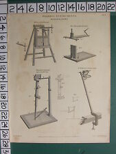 1812 DATED ANTIQUE PRINT ~ DRAWING INSTRUMENTS DELINEATORS PEACOCK'S EDGEWORTHS