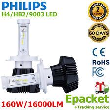 2x Philips 160W 16000LM H4 HI/LO Beam LED 9003 HB2 Headlight Kit Bulbs 6000K SX