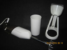 Vintage BAMIX Hand Held Stick Mixer Immersion Blender 2 Spd-Italy E 23 w/ Stand