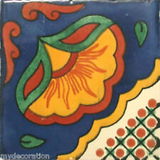 C#073) MEXICAN TILE CERAMIC TALAVERA MEXICO HAND MADE ART TALAVERA TILE