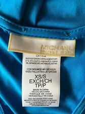 NWT Michael Kors Tile Blue Coverup Dress Racer back Size XS/S $122.00