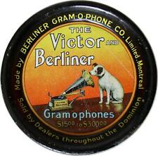 Tip Tray Victor Phonograph Berliner Gramophone Montreal Nipper His Masters Voice
