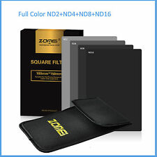 150*100mm Full Color Neutral Density ND248+ND16 Filter Kit For Cokin Z Series