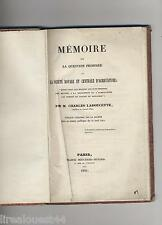Memoire sur la question proposee par la Sté royale agriculture Ladoucette 1841